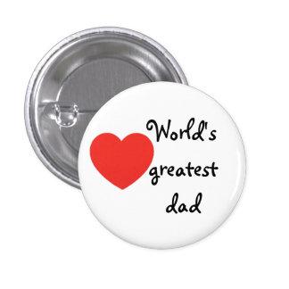 World's greatest dad pinback button