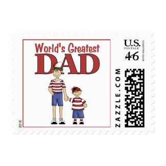 World's Greatest Dad stamp