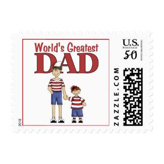World's Greatest Dad Postage