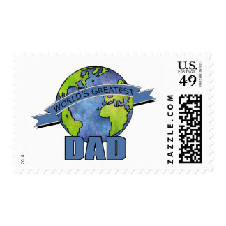 World's Greatest Dad Postage Stamp