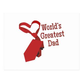 Worlds Greatest Dad Postcard