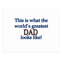 World's Greatest Dad Postcard