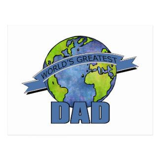 World's Greatest Dad Postcard