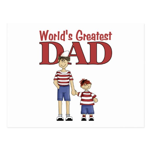 World's Greatest Dad Postcards