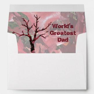 World's Greatest Dad Red Oak Leaves, Tree Envelope
