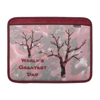 World's Greatest Dad Red Oak Leaves, Tree MacBook Air Sleeve
