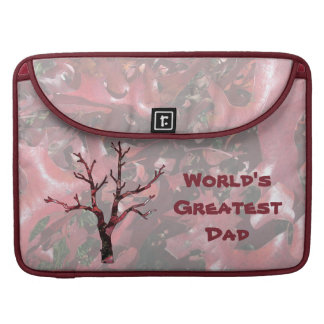 World's Greatest Dad Red Oak Leaves, Tree Sleeve For MacBook Pro