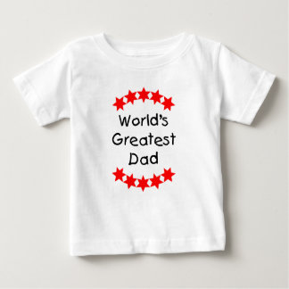 World's Greatest Dad (red stars) Baby T-Shirt