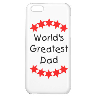 World's Greatest Dad (red stars) iPhone 5C Cases