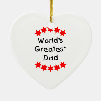 World's Greatest Dad (red stars) Ornaments
