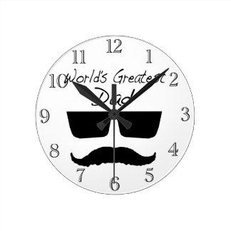 World's Greatest Dad Round Clock