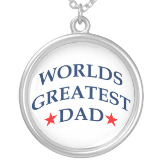 World's Greatest Dad Round Pendant Necklace