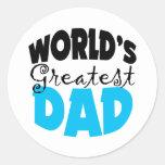 World's Greatest Dad Round Stickers