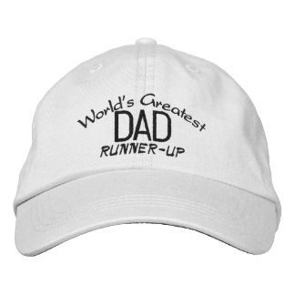 "World's Greatest Dad ""Runner-Up"" Hat Embroidered Baseball Cap"