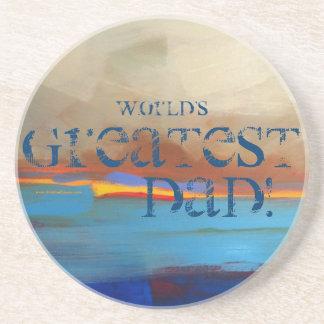 World's Greatest Dad! Sandstone Coaster