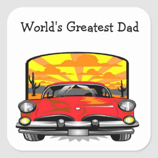 World's Greatest Dad - Square Sticker
