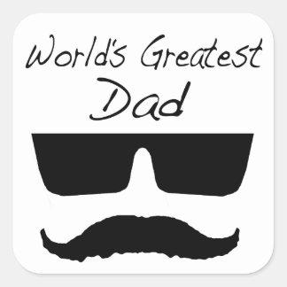 World's Greatest Dad Square Sticker