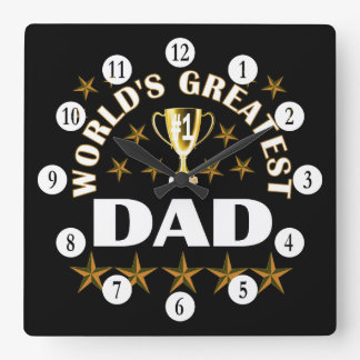 worlds-greatest-dad square wall clock