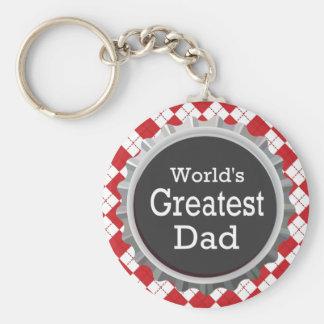 World's Greatest Dad - SRF Basic Round Button Keychain