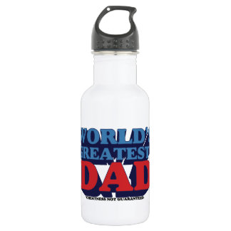 World's Greatest* Dad Stainless Steel Water Bottle