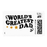World's Greatest Dad Stamps