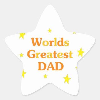 Worlds Greatest Dad Star Sticker