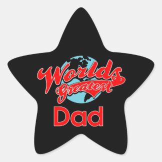 World's Greatest Dad Star Sticker