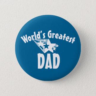 World's greatest dad stars men's pinback button