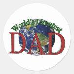 World's Greatest Dad Stickers