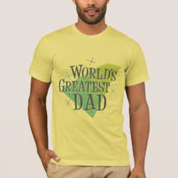 Men's Basic American Apparel T-Shirt with World's Greatest Dad design