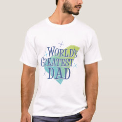Men's Basic T-Shirt with World's Greatest Dad design