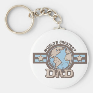 World's Greatest Dad T-shirts Gifts Keychain