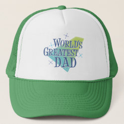 Trucker Hat with World's Greatest Dad design