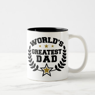 World's Greatest Dad Two-Tone Coffee Mug