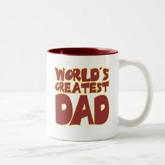 Worlds Greatest Dad Two-Tone Coffee Mug