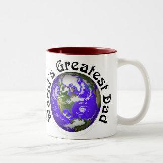 Worlds Greatest Dad! Two-Tone Coffee Mug