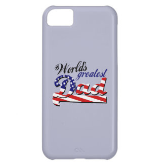 World's greatest dad with American flag Case For iPhone 5C