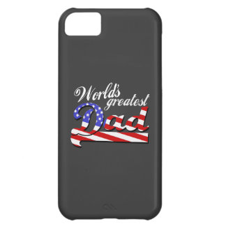 Worlds greatest dad with American flag - Dark Cover For iPhone 5C