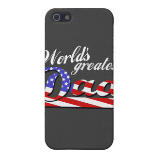 Worlds greatest dad with American flag - Dark iPhone SE/5/5s Case