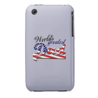 World's greatest dad with American flag iPhone 3 Covers
