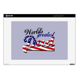 World's greatest dad with American flag Laptop Skin