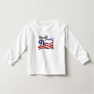 World's greatest dad with American flag Toddler T-shirt