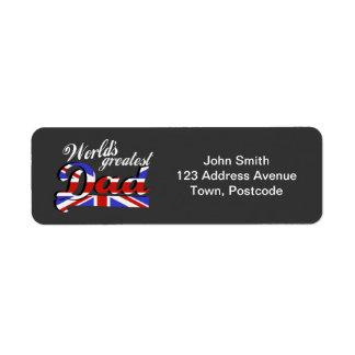 World's greatest dad with British flag - dark Label