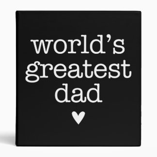 World's Greatest Dad with Heart Binder