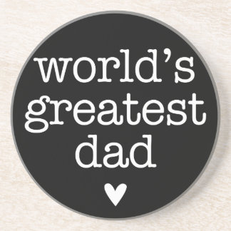 World's Greatest Dad with Heart Coaster