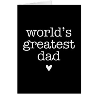 World's Greatest Dad with Heart Father's Day Greeting Card
