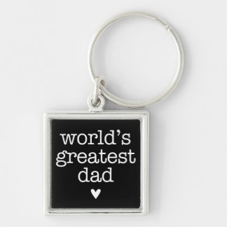 World's Greatest Dad with Heart Father's Day Key Chains
