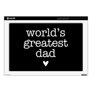 """World's Greatest Dad with Heart Father's Day 17"""" Laptop Skins"""
