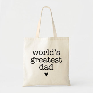 World's Greatest Dad with Heart Father's Day Tote Bag