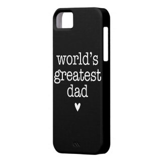 World's Greatest Dad with Heart iPhone 5 Case